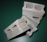 SET OF 4 1/3 Scale Cinder Blocks for use with 1/3 Scale Scaffold Training Kits. 