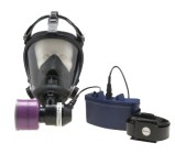The Survivair® Opti-Fit Mask-Mounted Powered Air Purifying Respirator includes a facepiece, blower, battery charger, power cord, HE filter, belt and air flow tester. This lightweight unit will not slow worker efficiency. The silicone facepiece offers high durability and unmatched comfort, and a speaker diaphram enhances wearer communication. The unit easily converts to an Air Purifying (APR) or CF SAR. The long-lasting battery pack features trouble-free charging, and is contoured for wearer comf