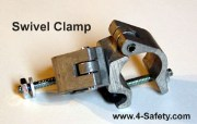 1/3 Scale Swivel Clamp for use with 1/3 Scale Tube and Clamp Scaffold Training Kit. 