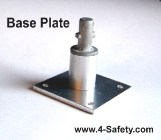 1/3 Scale Base Plate for 1/3 Scale Tube and Clamp Training Scaffold Kit.