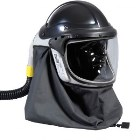 The Pureflo Hydra, Waist-Mounted, Powered Air Purifying Respirator. Helmet includes: hard hat, visor assemply, visor locking clip, F/R neck cape, and user's manual. Waist-mounted PAPR pack includes: blower, waist belt, battery, charger, 36