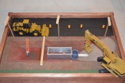 Excavation worksite hazard demonstration kit contains: