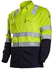 The Yooper High Visibility, FR Shirt is the ideal choice for hi-viz compliance in an FR-required environment. This shirt is HRC 2 with an ATPV = 8.5cal/cm², and is ANSI 107 Class III compliant!