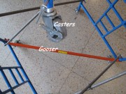 1/3 Scale Casters and Gooser Kit for Supported Frame Scaffold Training Kits.